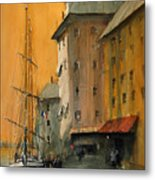 In the Port of Marseille Metal Print