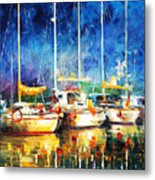 In The Port - Palette Knife Oil Painting On Canvas By Leonid Afremov Metal Print