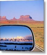 In The Rear View Mirror 2 Metal Print