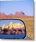 In The Rear View Mirror Metal Print