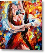 In The Rhythm Of Tango 2 - Palette Knife Oil Painting On Canvas By Leonid Afremov Metal Print