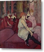 In The Salon At The Rue Des Moulins Metal Print