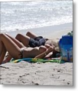 In The Sand At Paradise Beach Metal Print