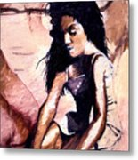 In The Sand Metal Print