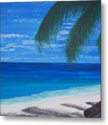 In The Shade Of A Palm Metal Print