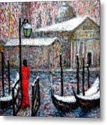 In The Snow In Venice Metal Print