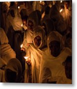 In The Streets Of Aksum Metal Print
