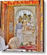 In The Temple Door Metal Print