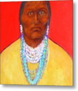 In The Time Of Crazy Horse Metal Print