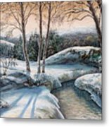 In The Winter In Carpathians.  Metal Print