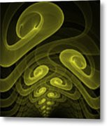 In The Yellow Tunnel Metal Print