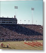 In This Vintage 1955 Photo The University Of Texas Longhorn Band Metal Print