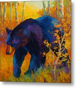 In To Spring - Black Bear Metal Print