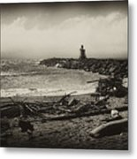 Incoming Fog On The Coquille Metal Print