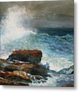 Incoming Tide Scarboro Maine Metal Print