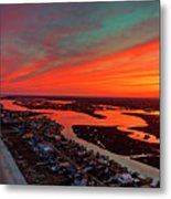 Incredible Point Sunset Metal Print