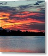 Incredible Red Sky  Metal Print