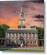 Independence Hall Philadelphia Sunset Metal Print
