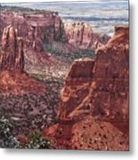Independence Monument At Colorado National Monument Metal Print