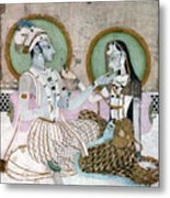 India: Couple Metal Print