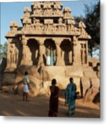 India Mahabalipuram  Metal Print