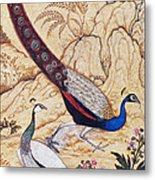 India: Peafowl, C1610 Metal Print