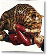 India: Tiger Attack Metal Print