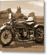 Indian 4 Sidecar Metal Print