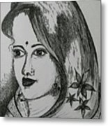 Indian Beauty  Metal Print