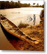 Indian Boat Metal Print