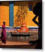 Indian Colors Metal Print