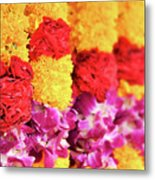 Indian Flower Garland Metal Print