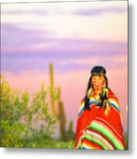 Indian Full Moon Southwest Sunset Metal Print