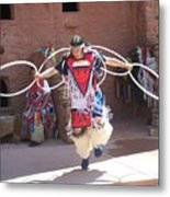 Indian Hoop Dancer Metal Print