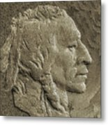 Indian In Stone   Metal Print