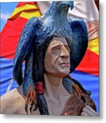 Indian Leader 001 Metal Print
