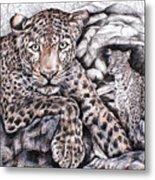 Indian Leopard Metal Print