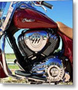 Indian Moto Blue Sky 81116 Metal Print