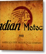 Indian Motocycle 1901 - America's First Motorcycle Company Metal Print