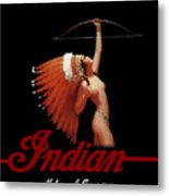 Indian Motorcycle Company Pinline Metal Print