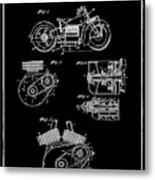 Indian Motorcycle Patent 1943 Black Metal Print