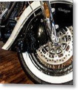 Indian Motorcycle Wheel Metal Print