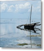 Indian Ocean At Lowtide Metal Print