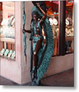 Indian On The Square Sante Fe Nm Metal Print