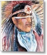 Indian Portrait Metal Print