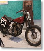 Indian Racing Motorcycle 34 Metal Print
