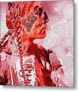 Indian Red Metal Print