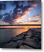 Indian River Inlet And Bay Sunset Metal Print