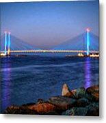 Indian River Inlet Bridge Twilight Metal Print