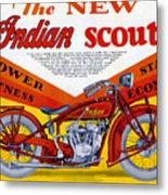 Indian Scout Metal Print